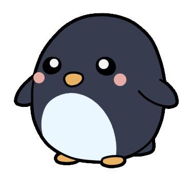 Adorable fat penguin illustration