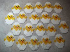 Easter chicks hama perler beads by Nath Hour