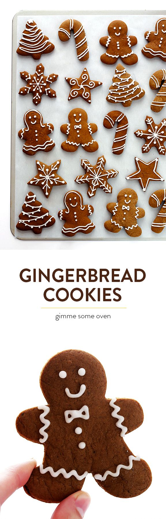 My favorite recipe for traditional Gingerbread Cookies! They're easy to make, perfect for cutting out, and so delicious! | gimmesomeoven.com