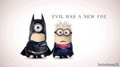 Minion Batman e Superman - 25 minions em filmes de sucesso - 25 minions inspirados em filmes de sucesso - Matérias especiais de cinema - Ado...