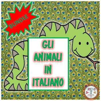 Have your students learn Italian farm, woodland,marine and wild jungle animals…
