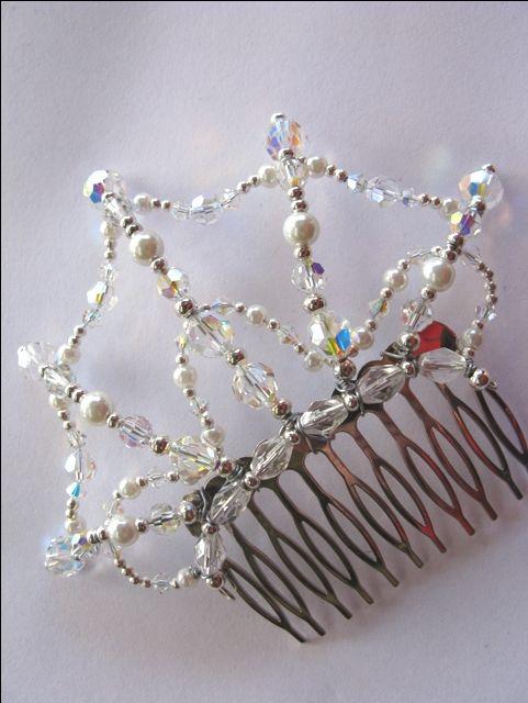 Side Comb Web - Crystal AB Buy Dance tiaras, Swarovski crystal beaded headpieces for ballet dancers