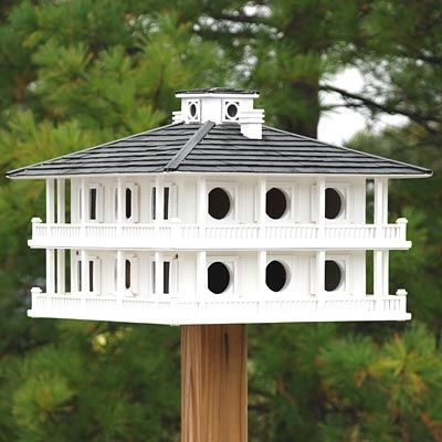 Home Bazaar Purple Martin Clubhouse Bird House, 16 Room at BestNest.com