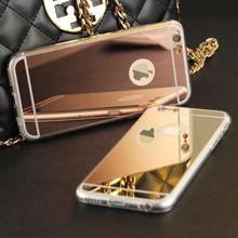 De alta Qualidade Da Moda de Luxo Galvanoplastia Espelho Suave TPU Claro Tampa Da Caixa de Telefone para iphone 4 4s 5 5s 6 s 6 7 mais caso capa alishoppbrasil