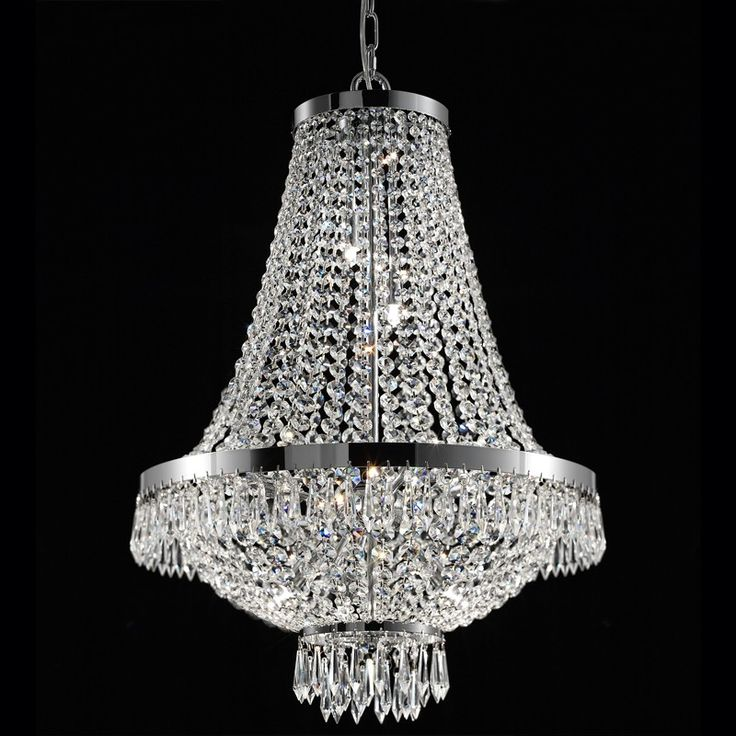 Caesar crystal chandelier ceiling light h 550 x dia
