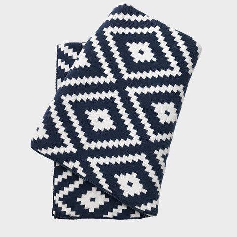 Linus Throw Blue #meyerandmarsh #throw #blanket
