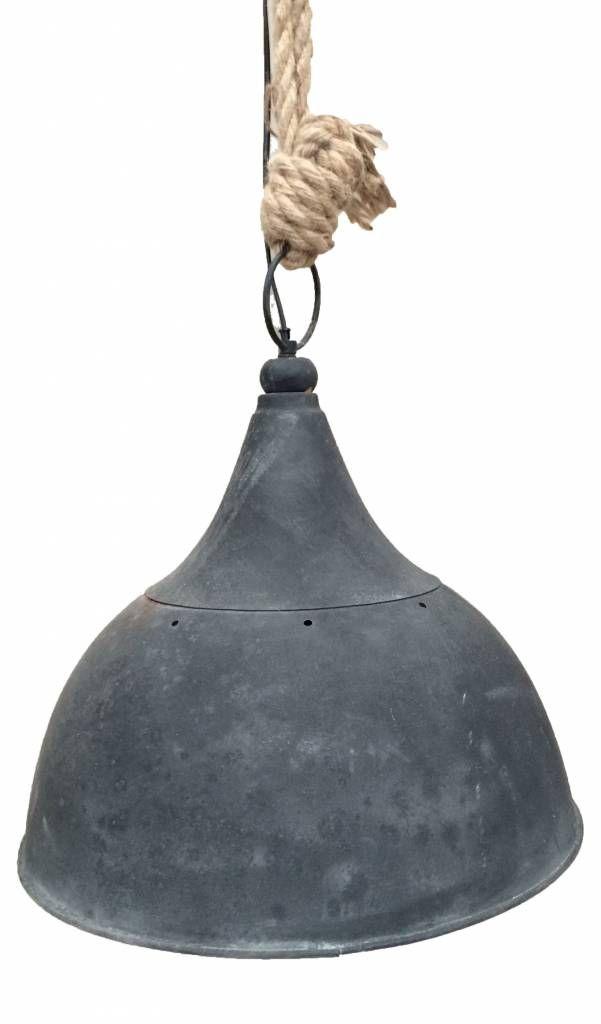 Sweet Living Grote Zwarte Hanglamp Met Touw - L