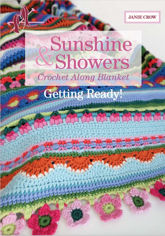 Sunshine & Showers Mystery CAL with Crochet Now Magazine designed by Jane Crowfoot