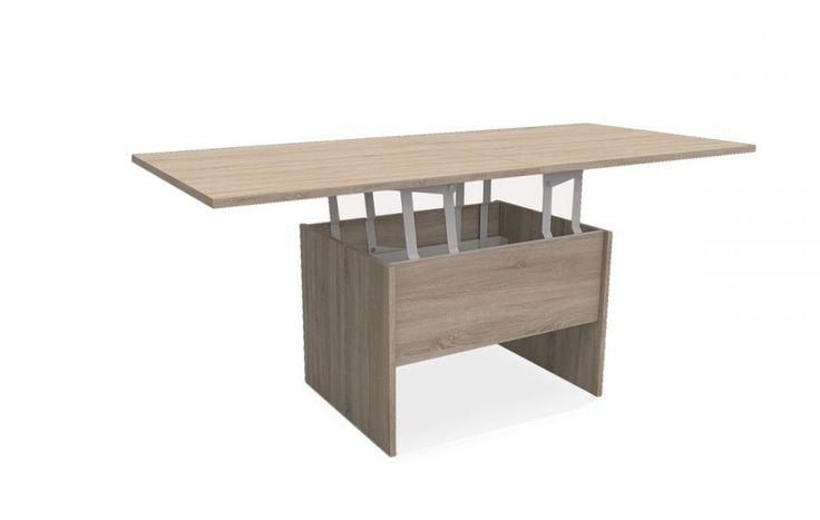 Rozkładana ława Costa B doskonale sprawdzi się w salonie, który wykorzystywany jest również w charakterze jadalni, a wszystko to za sprawą możliwości rozłożenia i podniesienia blatu.