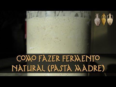 CURSO DE PÃES RÚSTICOS Cap2: 04 FERMENTO NATURAL OU PRÉ-FERMENTO MASSA MADRE - YouTube