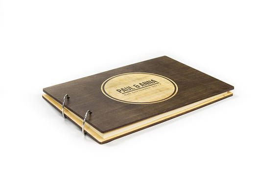Rustic Wedding Guest Book Custom Guest Book Wooden Guest