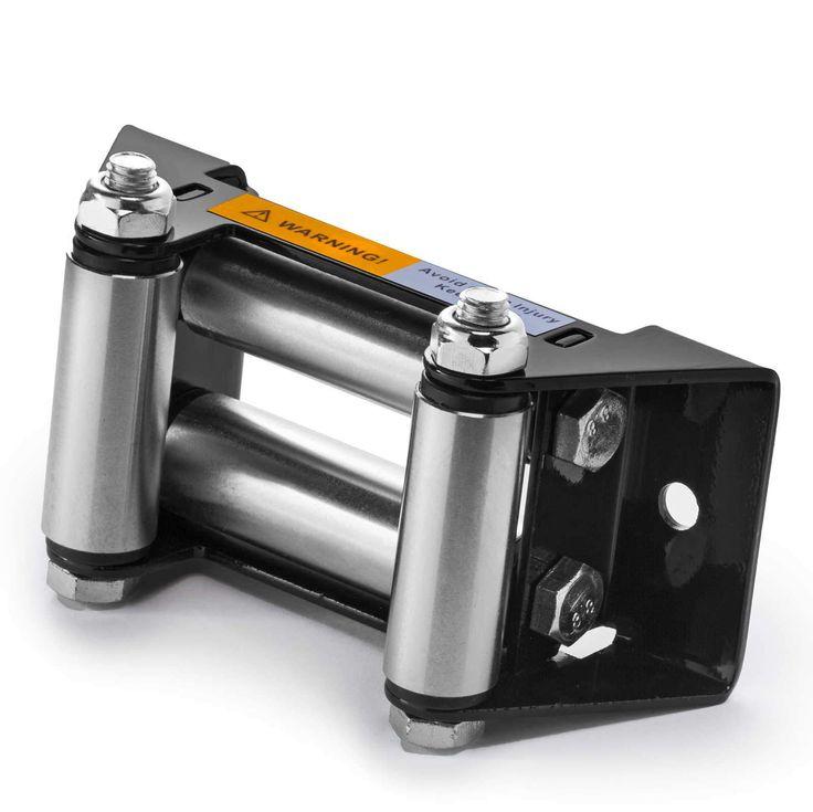 "Heavy Duty ATV Winch Roller Fairlead 4 Way Cable Lead Guide 4-7/8"" Bolt Pattern"