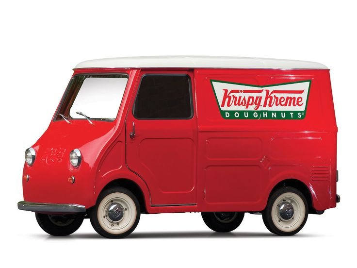 "1963 Goggomobil TL-250 Transporter ""Krispy Kreme""   SPECIFICATIONS Manufacturer: Hans Glas GmbH Origin: Dingolfing, Germany Production: 3,665 Motor: Glas vertical twin, 2-stroke Displacement: 247 cc Power: 14 hp Length: 9 ft. 6.5 in."