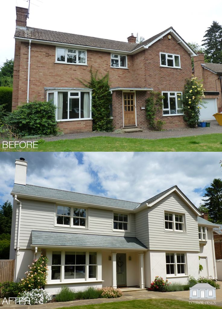 One of our most popular Back to Front projects. Located in Bishop's Stortford, this family home was completely remodelled inside and out with a New England look