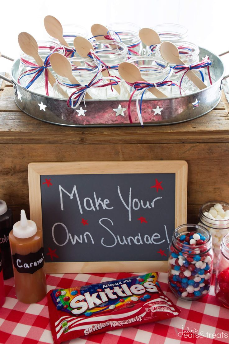 DIY Sundae Ice Cream Bar Party ~ Cool Off this Summer with a Festive DIY Sundae Bar! Grab Your Ice Cream, Toppings and Indulge in This Fun Treat! Perfect for a Summer Party! ~ http://www.julieseatsandtreats.com #ad