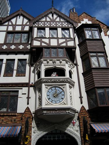 London Court, Perth, Australia. Old word charm in the middle of a modern city. My Great grandfather was the carpenter on this project.