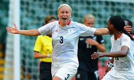 Great Britain's Stephanie Houghton celebrates her winning goal as Great Britain wins 1-0.