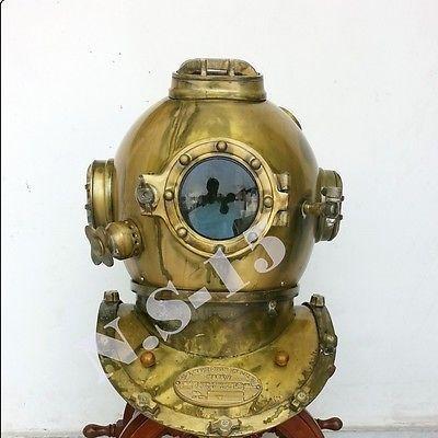 Antique Scuba SCA Divers Diving Helmet US Navy Mark V Deep Sea Marine Divers - http://scuba.megainfohouse.com/antique-scuba-sca-divers-diving-helmet-us-navy-mark-v-deep-sea-marine-divers-2/