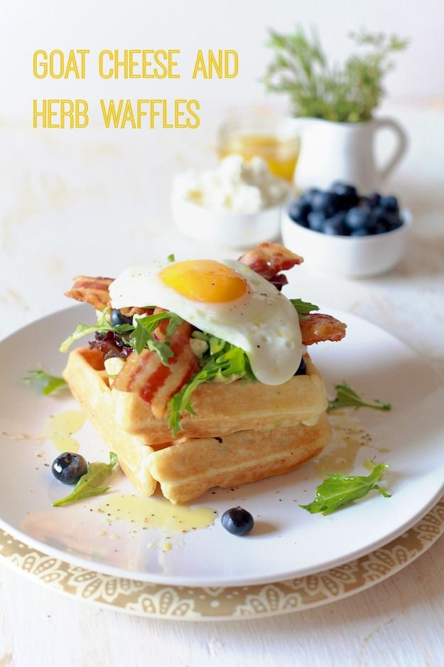 Goat Cheese and Herb Waffles