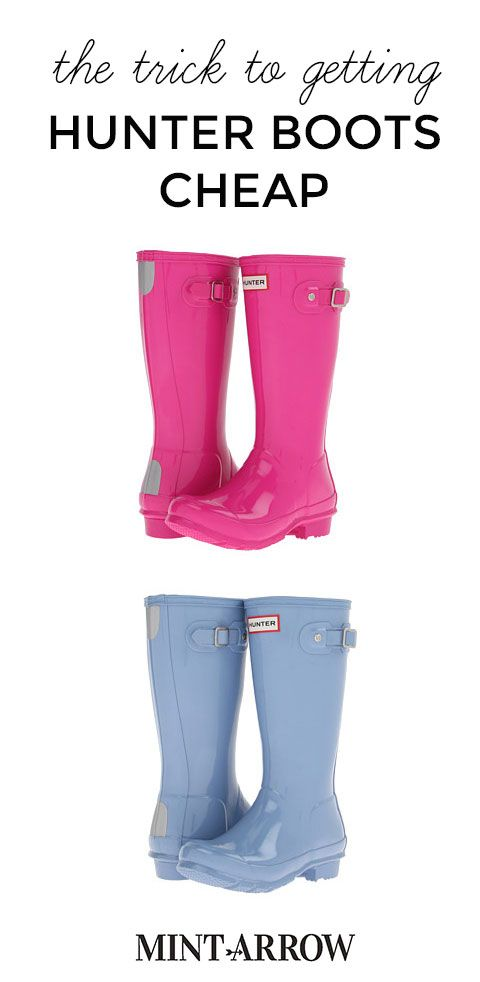 the trick to getting hunter boots cheap! #hunter #boots