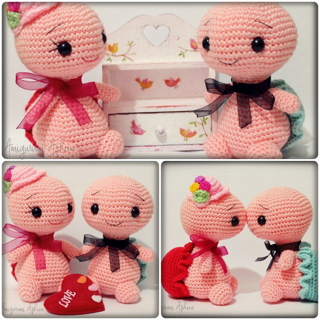Amigurumi Aşkına-Örgü Oyuncaklarım: Amigurumi Bay ve Bayan Kaplumbağa-Amigurumi Turtle