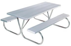Park King Commercial Picnic Table with Aluminum Planks