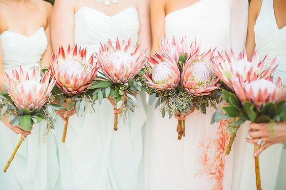 King Protea and Eucalyptus Bouquets
