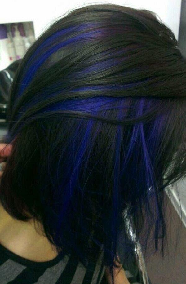 blue hair streaks fabulous