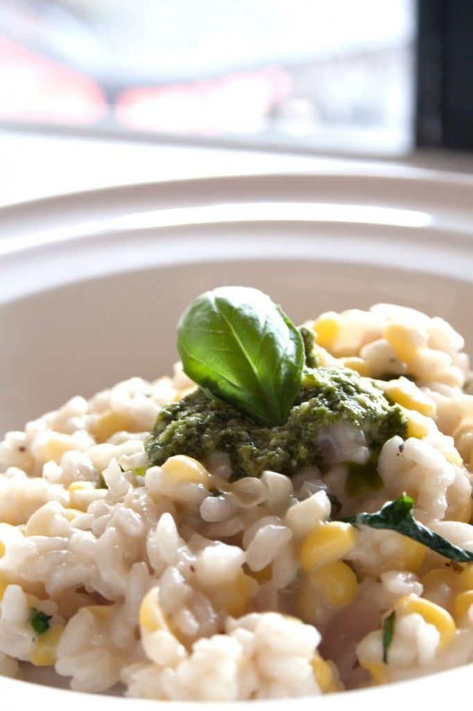 ... Sweet Corn Risotto by whiteplatekitchen.com looks delicious! #corn #