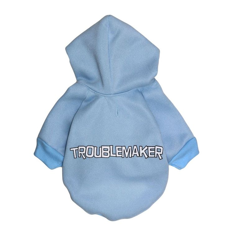 Troublemaker Printing Puppy Dog Hoodies Cat Pet Jumpsuit Sweatshirt Yorkie Coat Jacket Teddy Clothes Sweater Ropa Para Perros #Affiliate