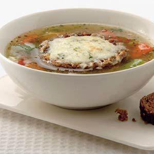 Recept - Gegratineerde Proven�aalse groentesoep - Allerhande
