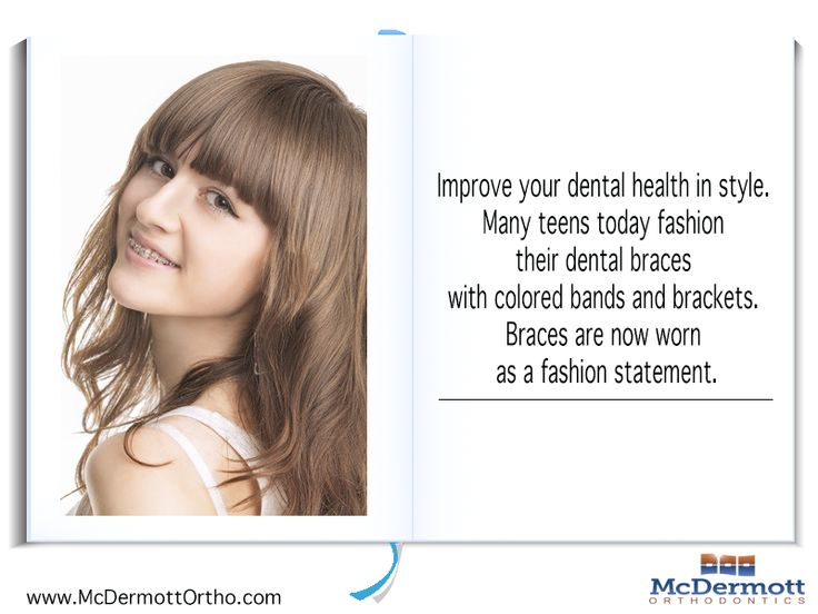 Orthodontic Fact #5 Improve your dental health in style. Many teens today fashion their dental braces with colored bands and brackets. Braces are now worn as a fashion statement. - McDermott Orthodontist, 708 Elm Ave. E., Delano, MN 55328, TEL: 763-972-4444 #orthodontist #invisalign #braces