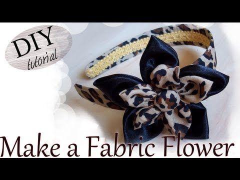 DIY: How To Make a Fabric Flower / Tutorial: Come realizzare un doppio f...