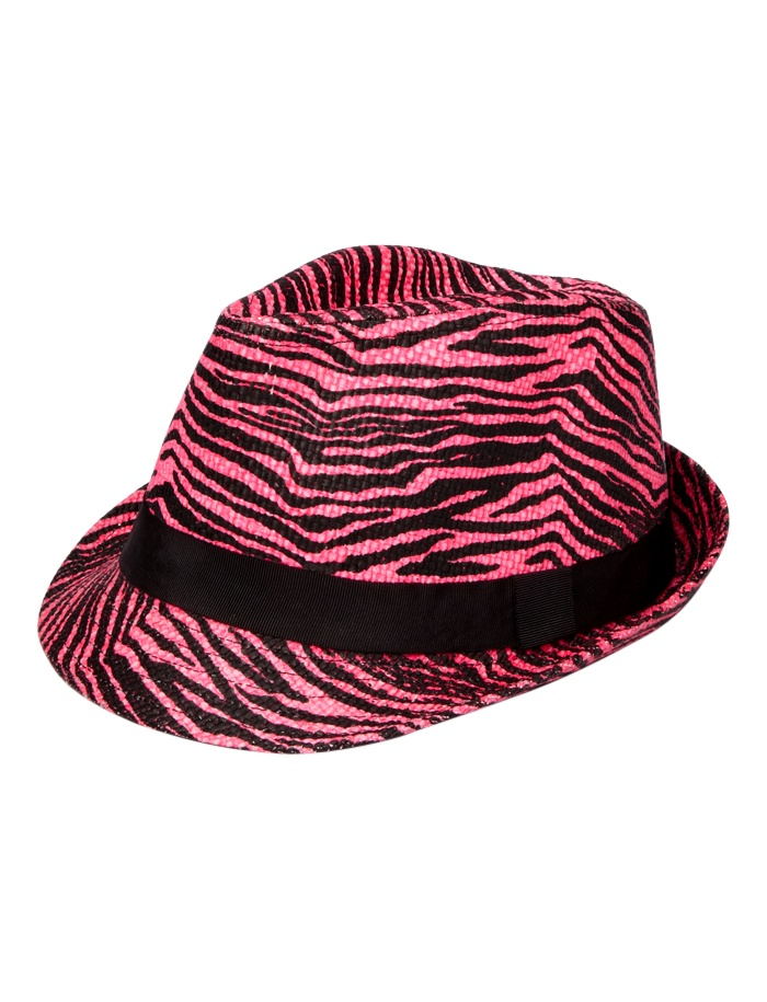 zebra fedora hat  ada73fbfe3b4