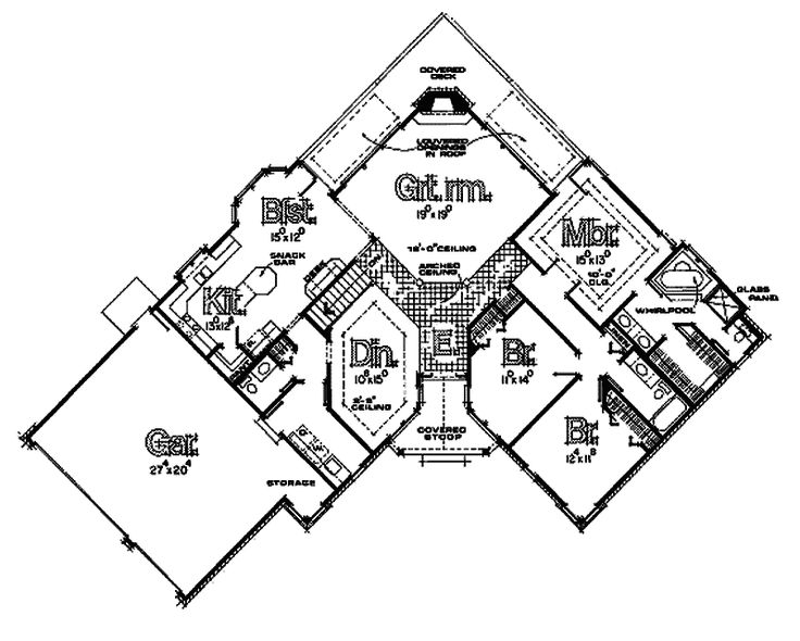 House plan 026d 0396 libraries a 4 and unique Weird floor plans