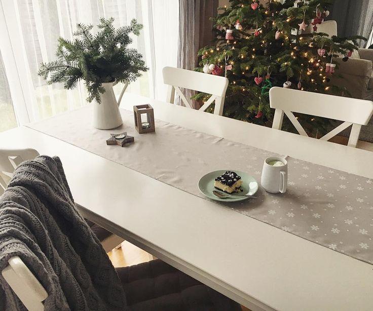 Dzień dobry! Czas ruszyć z tym Nowym Rokiem. Wyjąć nowe kalendarze i planery, zaplanować piękny rok. Robicie sobie jakieś postanowienia? Ja raczej nie, mam zamiar tylko (jak zwykle) bardziej się ogarnąć, pozałatwiać sprawy, wiszące od dawna, zdrowiej się odżywiać, więcej ruszać itd... No i mamy takie jedno marzenie... żeby powiększyła nam się rodzina... 😉✊❤️ . #table #diningroom #coffee #interior #home #cozyhome #coffeetime #scandi #scandinaviandesign