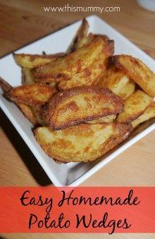 Easy Homemade Potato Wedges :: This Mummy... @AbdulAziz Bukhamseen Mummy