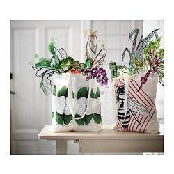 IKEA - ANVÄNDBAR, Taška, Pre životné prostredie urobíte viac už tým, že budete používať toto vrece namiesto jednorazových.Tašku môžete prať v práčke a má dlhšiu životnosť ako bežná plastová taška.