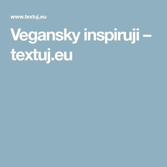 Vegansky inspiruji – textuj.eu