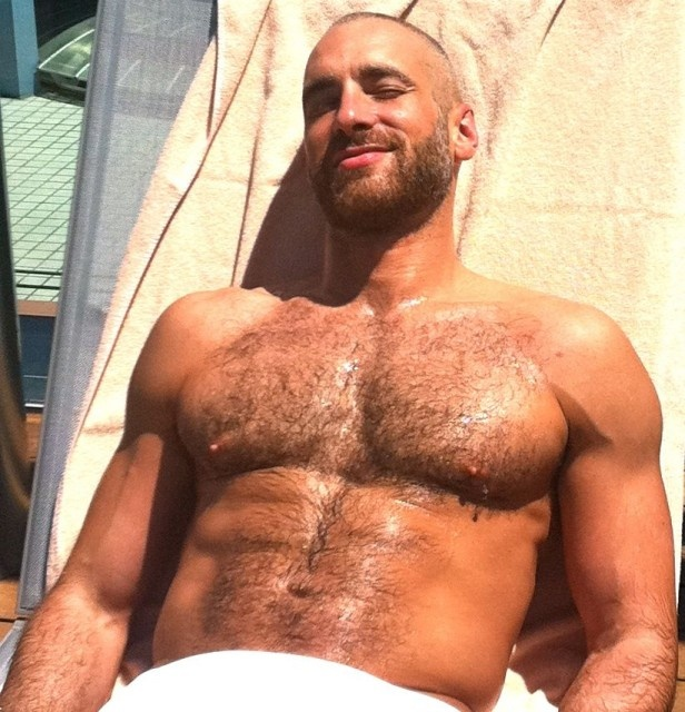 Pretty hairy chest.