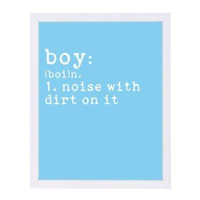 East Urban Home 'Boy Definition Blue' by Indigo Sage Framed Textual Art