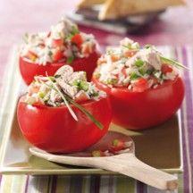 Gevulde tomaten met tonijn