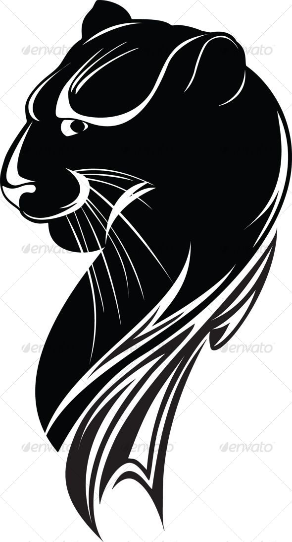 black panther - #Animals #Illustrations Download here: https://graphicriver.net/item/black-panther/61447?ref=alena994