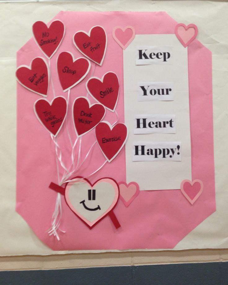 School nurse health bulletin boards: Keep your heart happy!