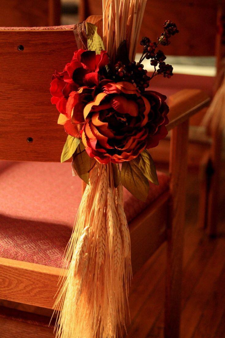 mariage dautomne- idées de décoration des chaises des invités en ...