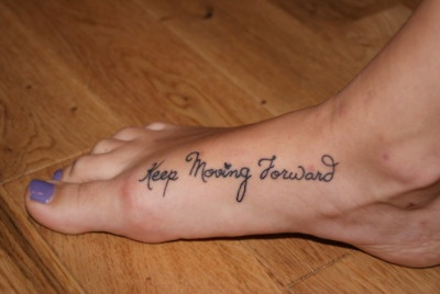 """Keep moving forward"" the perfect running tattoo"