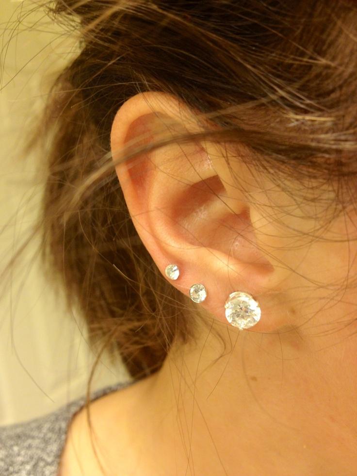 Triple ear piercing! soo tempting..... | || I love my ear ...