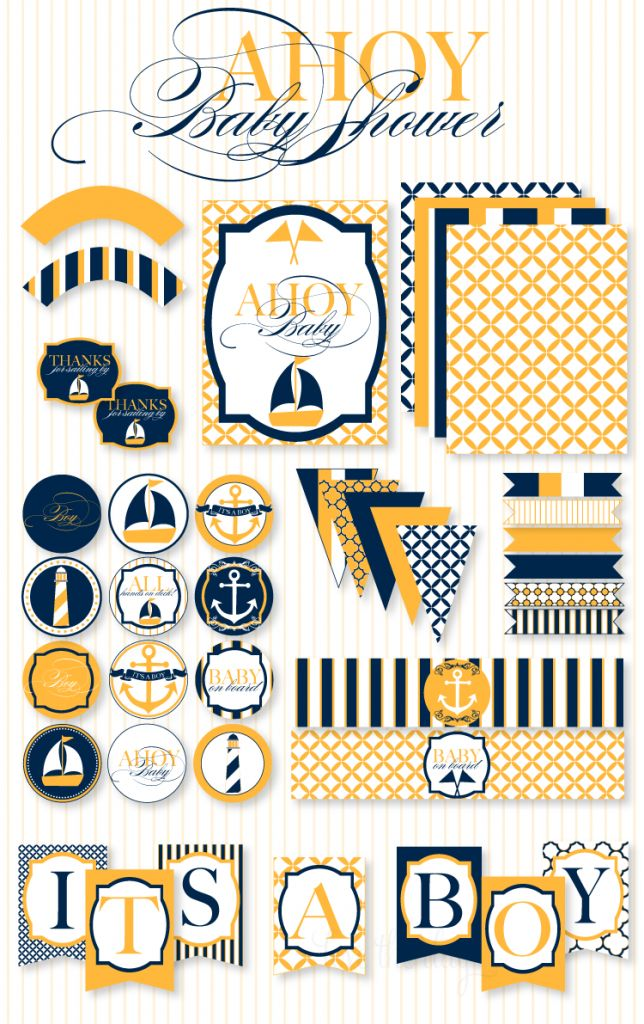 Customer Parties:: Nautical Baby Shower Feature, I need a certain person to have a baby so I can do this theme :)