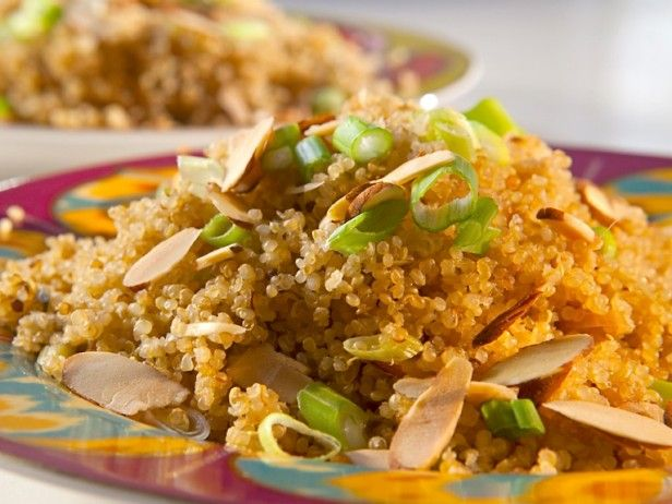 Warm Quinoa Salad with Toasted Almonds from CookingChannelTV.com