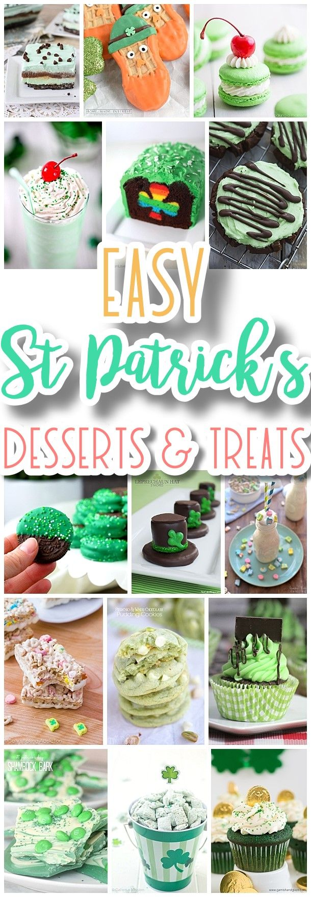 The BEST St. Patrick's Day Desserts and Treats Recipes - Lucky Green Sweets for your Spring Holiday Party - Dreaming in DIY #easystpatricksdaydesserts #stpatricksday #stpatricksdayparty #stpatricksdaypartyfood #lucky #luckygreen #luckytreats #shamrocks #clovers #rainbowtreats #leprechantreats